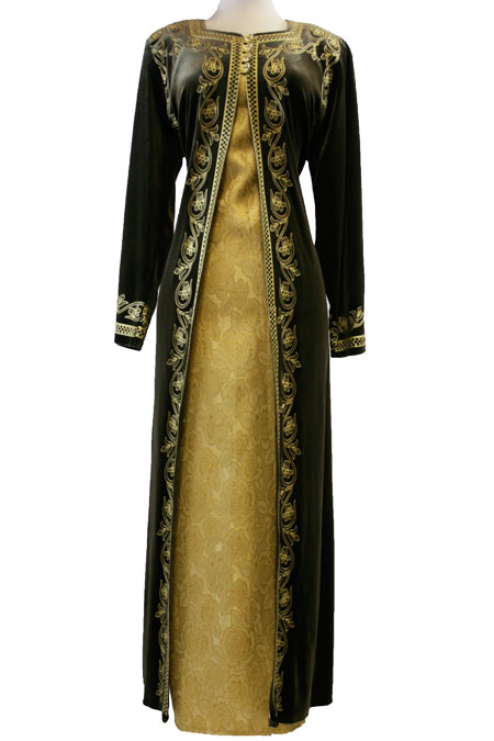 Rich gold mixing abaya gives princess style
